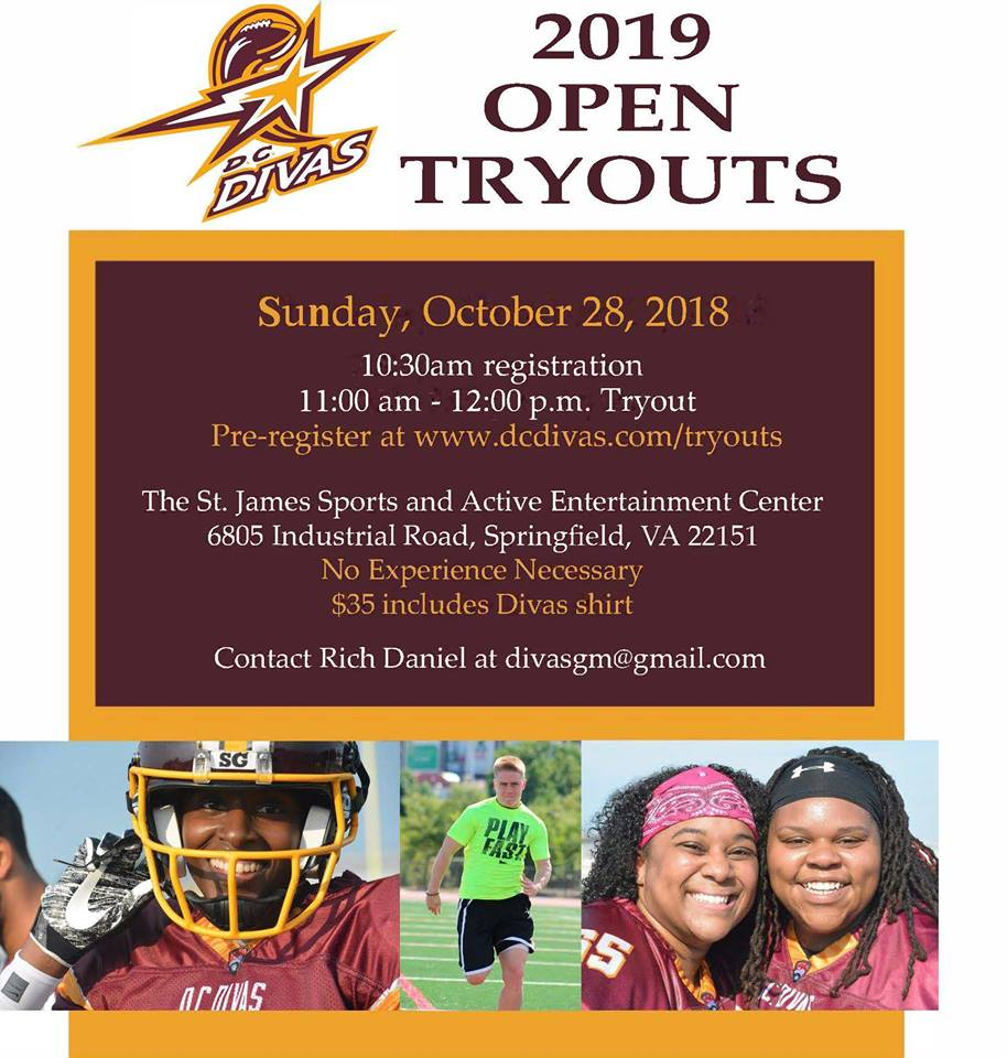 Player Tryouts - Official Site of the D.C. Divas